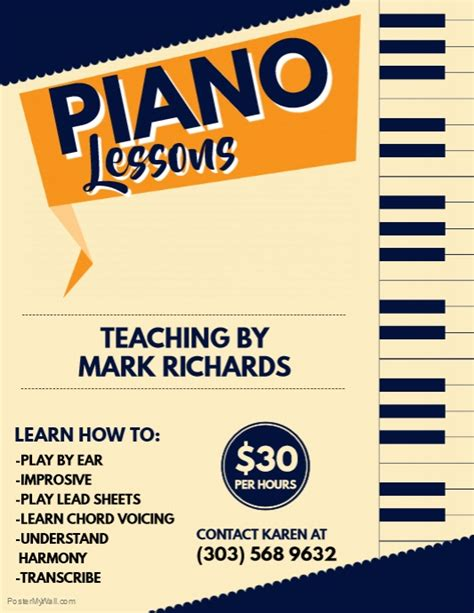 design a flyer lesson plan piano lessons flyer template postermywall