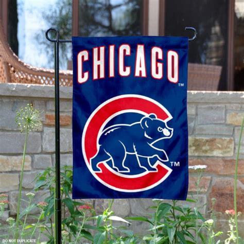 Chicago Cubs Garden Flag by Walking Chicago Cubs Garden Flag