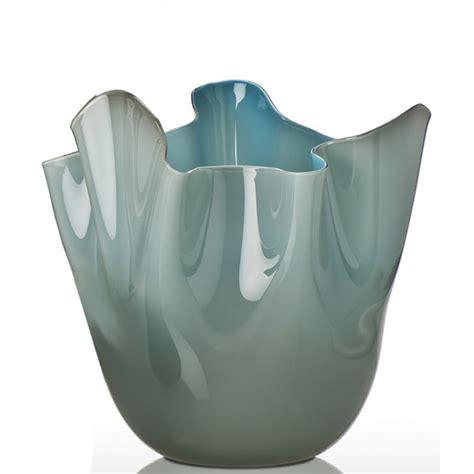 vaso venini fazzoletto venini fazzoletto vaso medio bicolore talpa orizzonte
