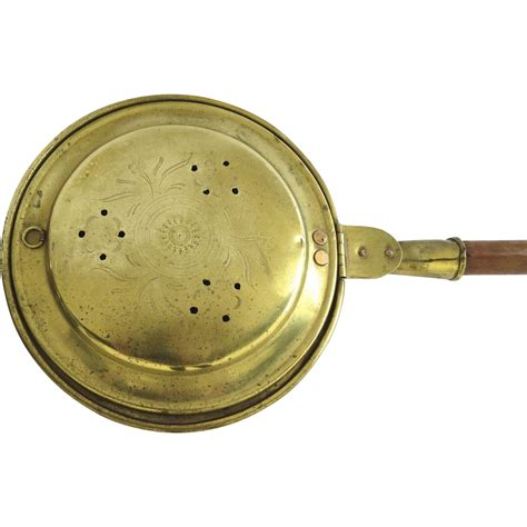 brass bed denver english brass bed warmer 19th century from blacktulip on ruby lane