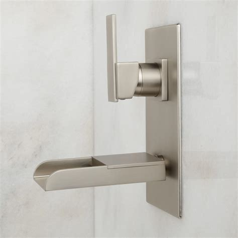 wall bathroom faucet signature hardware willis wall mount bathroom waterfall faucet ebay