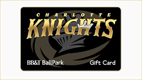 Bbt Gift Card Balance - gift cards charlotte knights tickets