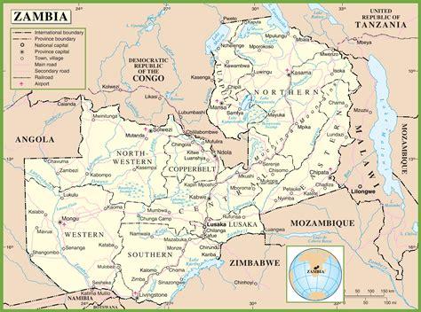 map of lusaka city zambia political map
