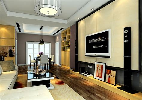 Japanese Modern Interior Design by Tv Wall Decoration For Living Room