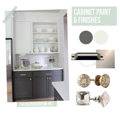 cabinet makeover gray and white two toned painted