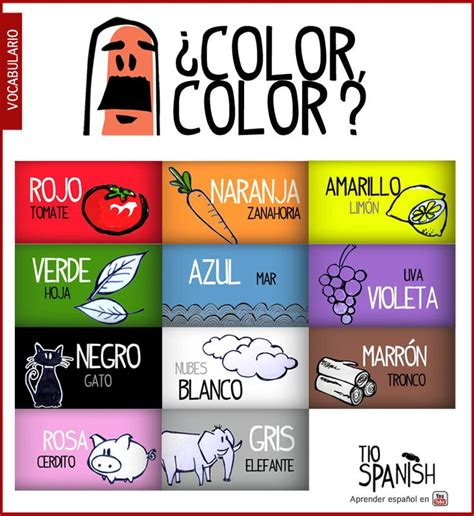 color in spanish best 20 los colores en espa 241 ol ideas on pinterest