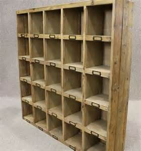 Compartment Bookcase Reclaimed Pine Bookcase Letter Rack Pigeon Hole Bookcase
