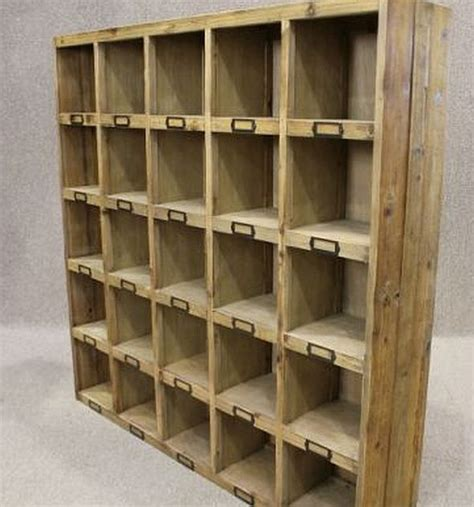 reclaimed pine bookcase letter rack pigeon bookcase