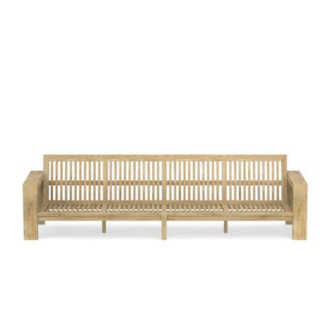 larnaca outdoor teak sofa 4 seat williams sonoma
