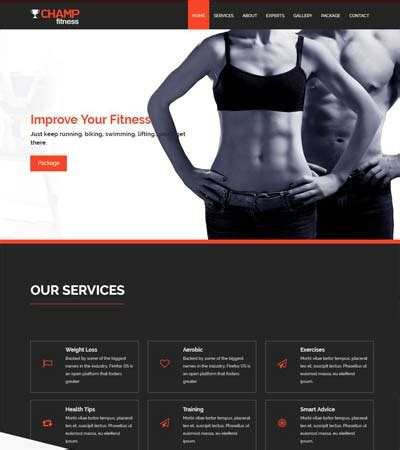 bootstrap templates for gym best sports fitness website templates free download