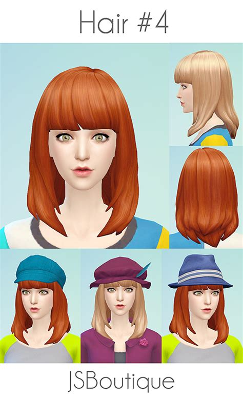 Jsboutique Hair 1 Comes In All The Default Ea Hair | my sims 4 blog jsboutique hair 4 for females