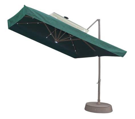 Square Offset Patio Umbrella 3 Discount 8 5 Square Offset Solar Umbrella Green Offset Patio Umbrella
