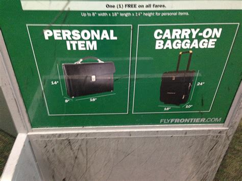 new baggage guidelines on frontier airlines