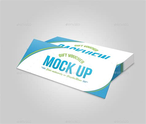 Reward Cards Template Mock Up by Gift Voucher Mock Up 02 By Tfdesignstudio Graphicriver