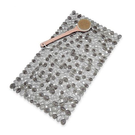 bed bath and beyond shower mat pebble bath mat in grey bed bath beyond