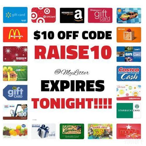 Rise Gift Card - get discounted gift cards from raise coupon code expires tonight