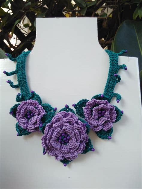 collana fiori uncinetto collana con fiori ad uncinetto gioielli collane di