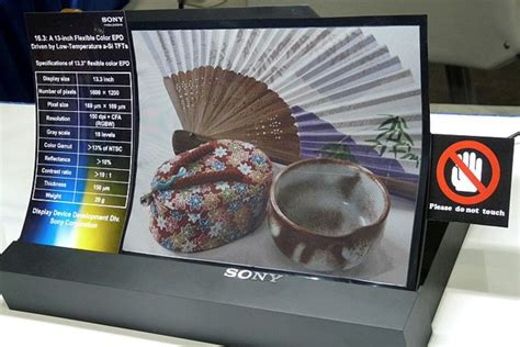 color e paper sony unveils 3d and color e paper displays at this week s