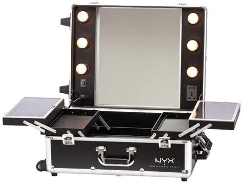 makeup suitcase with lights and mirror nyx cosmetiquera estacion de maquillaje maletin luz vv4