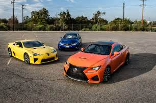 Rc Lexus Lfa 2015 Lexus Rc F With Is F And Lfa Photo 3