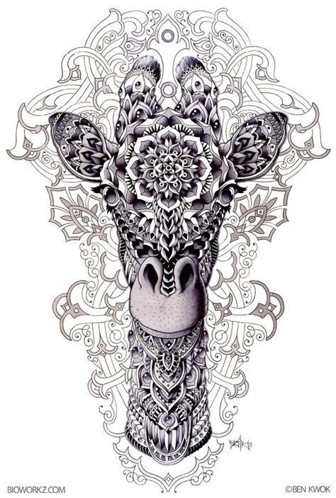 zentangle tattoo animal ornate animals by ben kwok at coroflot com illustration