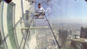 glass slide skyscraper throw yourself down a glass slide on top of an la
