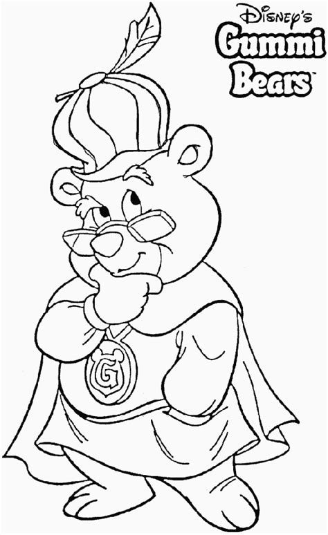 gummi bears coloring pages coloringpagesabc com