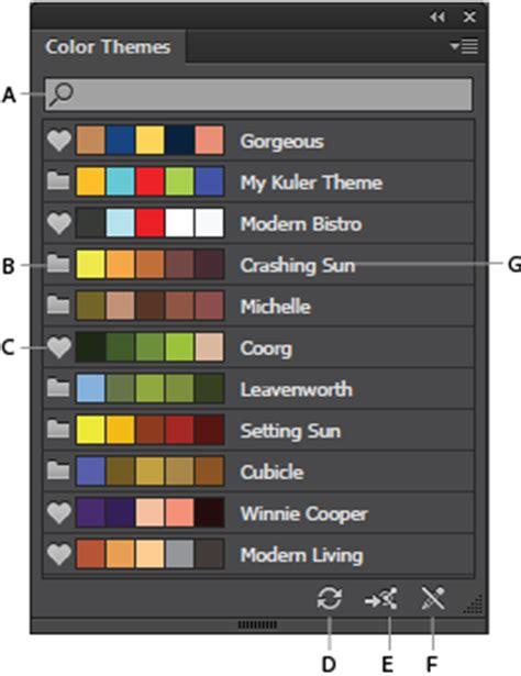 color themes adobe illustrator panneau th 232 mes de couleur dans illustrator