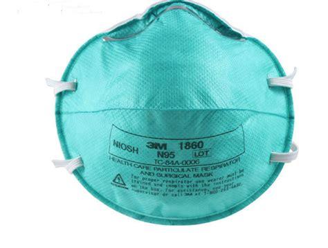 Masker Per Box box of 10 3m 1860 reg size n95 respirator masks
