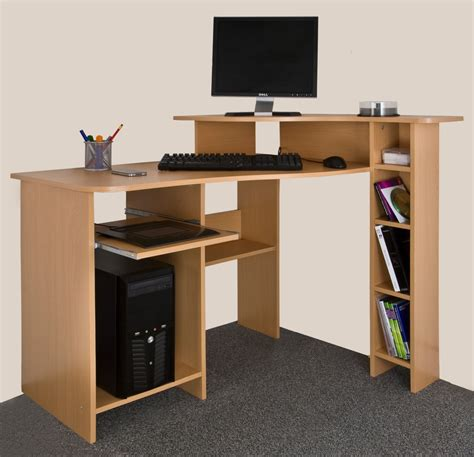 Computer Desk Argos Ex Argos Wooden Corner Computer Workstation Desktop Table Office Home Study New Ebay