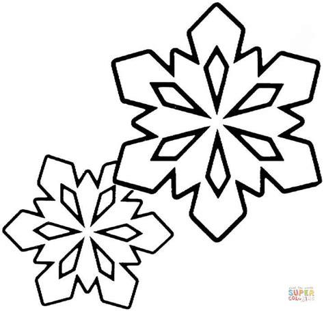 giant snowflake coloring page ausmalbild zwei kleine schneeflocken ausmalbilder