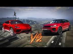 Range Rover Lamborghini Lamborghini Urus Vs Range Rover Evoque Side By Side