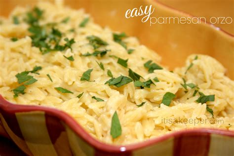 simple dishes easy side dishes easy parmesan orzo it is a keeper