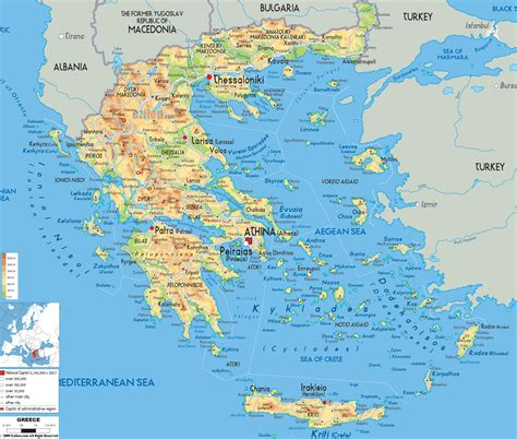 cities map maps of greece greece detailed map in tourist map map of resorts of greece