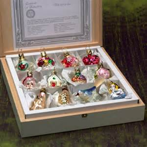 christmas ornament collection with wedding wishes