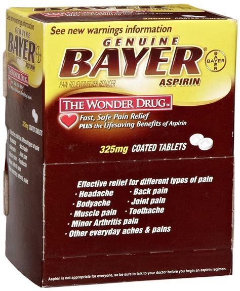 tattoo pain relief tablets bayer aspirin pain reliever fever reducer 325 mg
