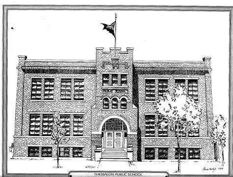 S Drawing Middle School by Drawing Of The Thessalon School Circa 1989 A