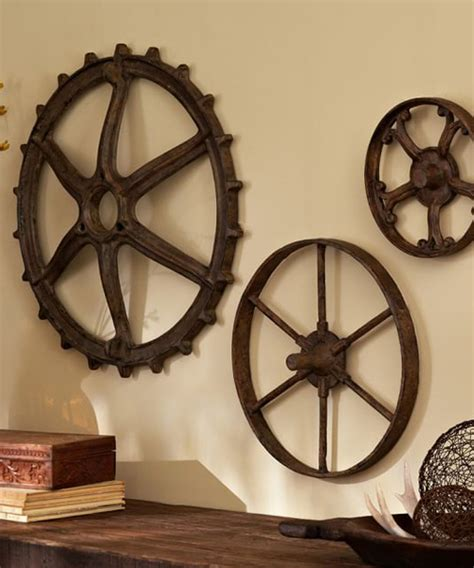 rustic wall decor rustic decor gears
