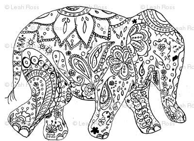 coloring pages indian elephant henna elephant art pinterest henna elephant hippie