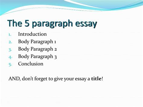 5 Paragraph Essay Powerpoint by Ppt Writing An Literary Essay Powerpoint Presentation Id 2659994