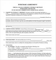 free real estate sales contract template sle real estate purchase agreement 8 exles format