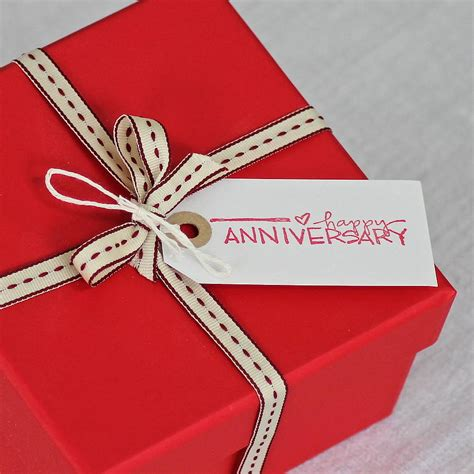 gift for happy anniversary gift tag by chapel cards