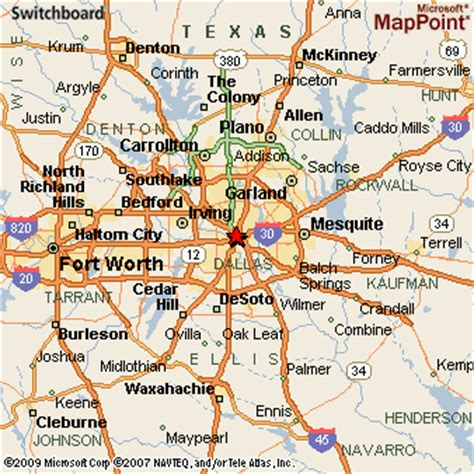map dallas texas surrounding area dallas texas