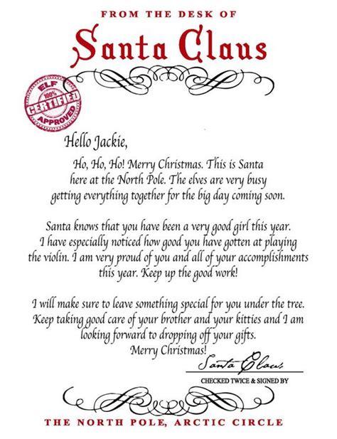 letter santa santa claus instant printable