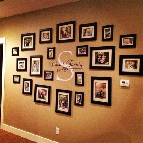photos on wall ideas best 25 family wall decor ideas on