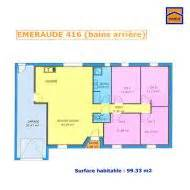 plan plain pied 100m2 3 chambres