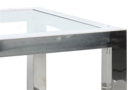 table basse bout de canap table basse bout de canap 233 acier inox et verre