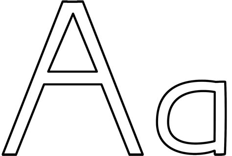 Letter A Coloring Page Alphabet The Letter A Coloring Pages