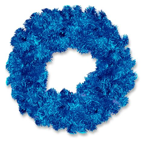 national tree company 24in unlit blue tinsel wreath