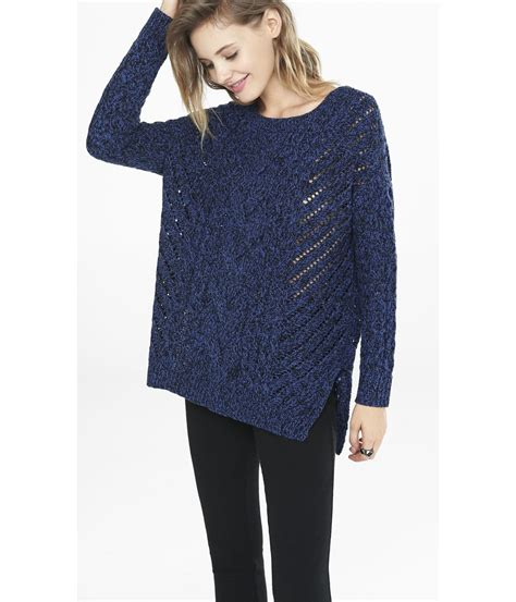 oversized cable knit sweater express marl oversized open cable knit tunic sweater in